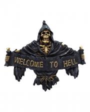 Gothic Türschild Welcome to Hell