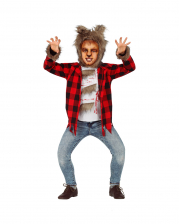 Werewolf Children Costume With Fur Cap