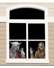 Werewolf And Skeleton Window Foil 60cm