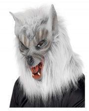 Werwolf Maske silbergrau