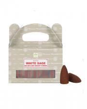 White Sage Backflow Incense Cones 24pcs.