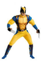 Wolverine Men`s muscle costume