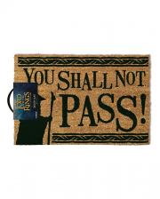 You Shall Not Pass Lord Of The Rings Doormat