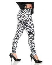 Zebra Costume Leggings White