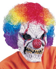 Horror Clown Mask With Afro Wig