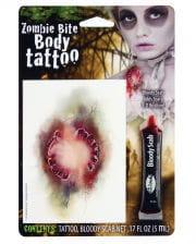 Zombie Bite Tattoo With Filmblood