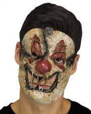 Zombie Clown Halbmaske