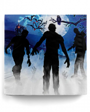 Zombie Party Motif Napkins 16 Pieces
