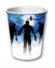 Zombie Party Paper Cup Set 8 Pieces