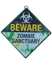 Zombie Protected Area Warning Sign 28 Cm