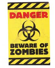 Zombie Warnhinweis Schild