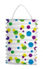 Train lantern white with colorful dots