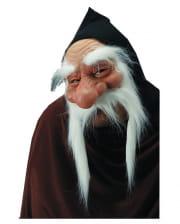 Zwergen Halbmaske mit weißem Bart