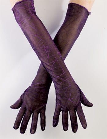 Spinnweben Handschuh lila