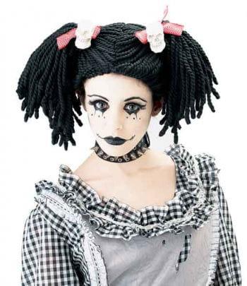 Gothic Puppen Kinderperücke
