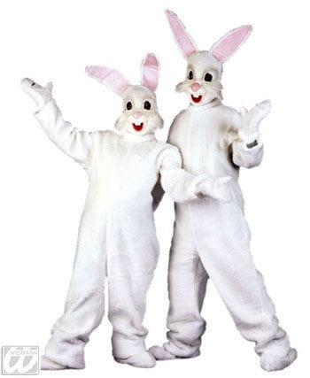Plush Bunny Costume White