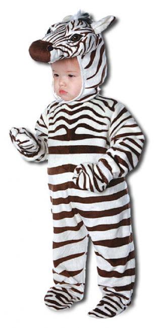 Fröhliches Zebra Kinderkostüm Xtra Large