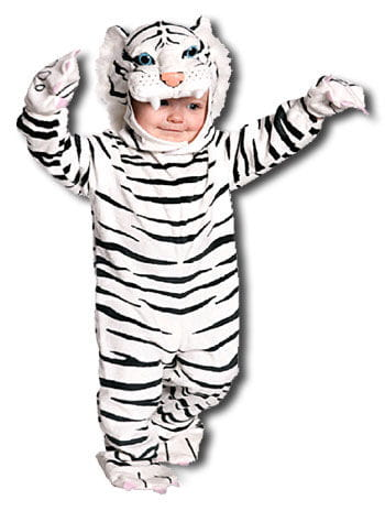 Cuddly White Tiger Toddler Costume M  sc 1 st  Horror-Shop & Cuddly White Tiger Toddler Costume M Predator Kids Costumes Carnival ...