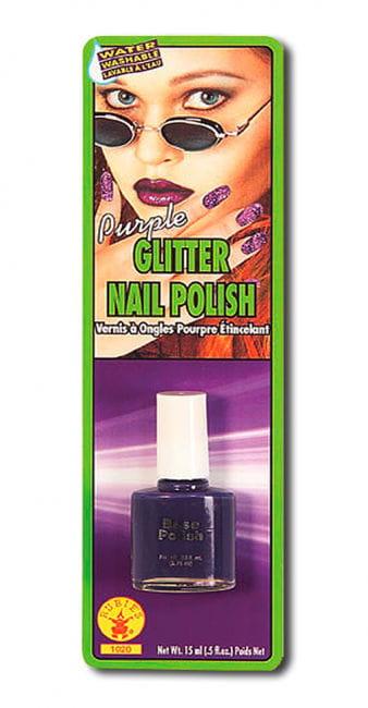 Purple Glitter Nail Polish
