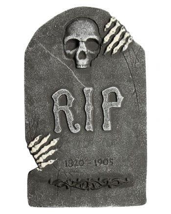 Grabstein Schädel mit Skelett Händen