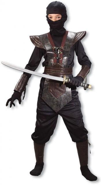 Ninja Fighter Kids Costume brown S