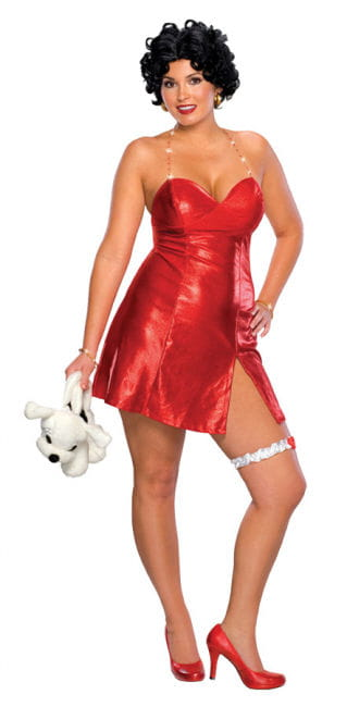 Betty Boop Mini Dress Wig 46-48