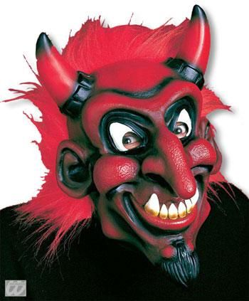 Beelzebub Mask with Red Hair