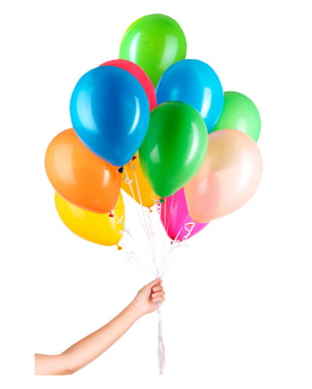 30 Latex Ballons für Helium mit Schnur