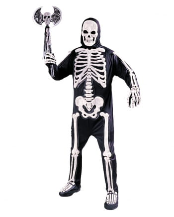3D Skelett Kostüm One Size