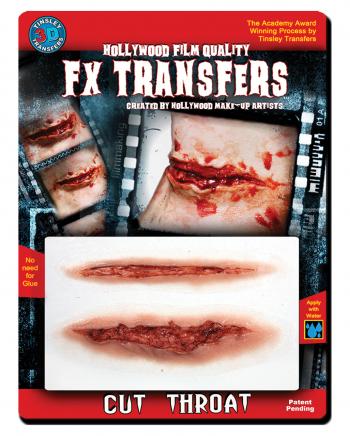 3D FX Transfer Tattoo Larynx Cut