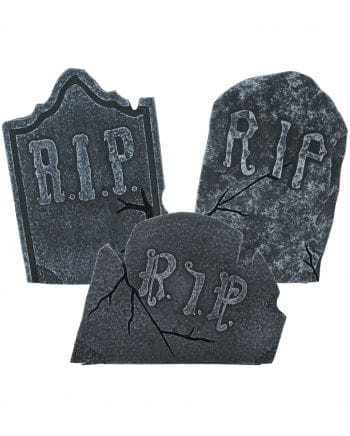 Weathered Halloween Gravestones 3pcs. Set