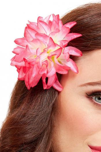 Tropischer Blumen Haarclip Rosa