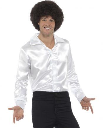 60s disco shirt white