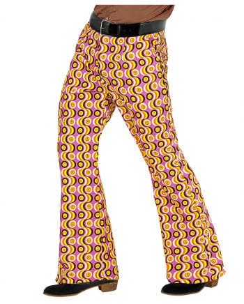 Groovy 70s Men's Flared Pants Discs