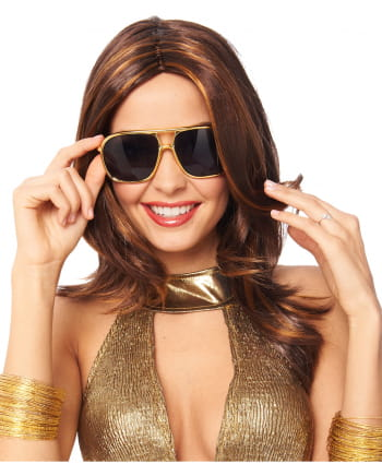 70s Style Sunglasses Gold