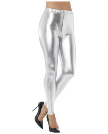 80s Metallic Leggings silver