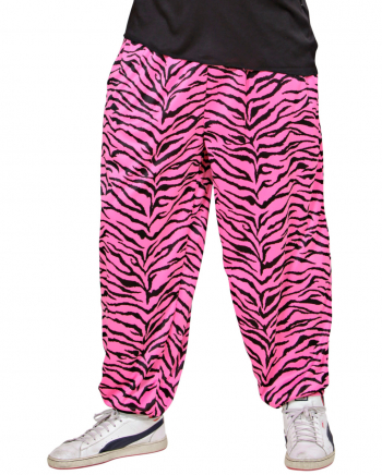 80er Jahre Pink Zebra Jogging Hose