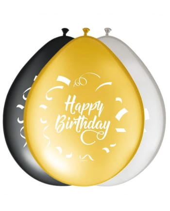 8er Pack Luftballons Happy Birthday