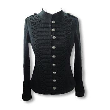 schwarze Gothic Jacke im Uniform Style S