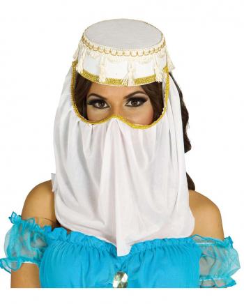 Arabische Prinzessin Kostümhut mit Schleier