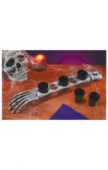 Armknochen mit schnapsgl sern skelettarm als halloween - Tischdekoration halloween ...