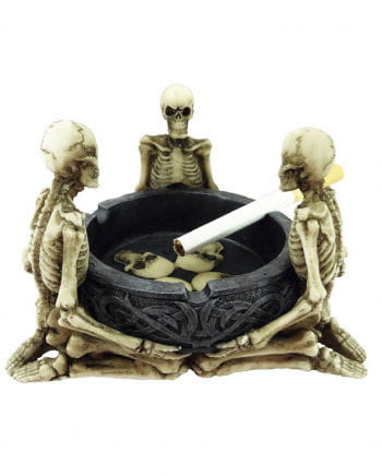Ashtray with three skeletons