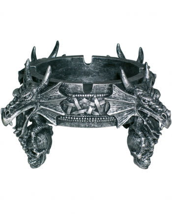 Dragon with skull head ashtray