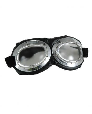 Aviator Glasses Silver / Black - Clear