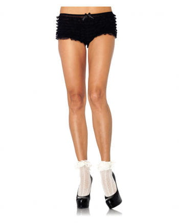 Socks with lace collar beige