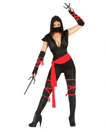 Black Ninja Warrior Lady Costume