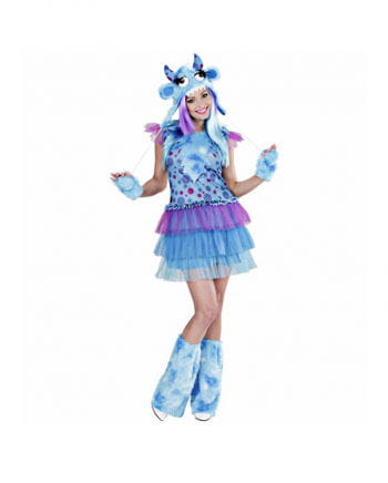 Monster Girl Costume blue  sc 1 st  Horror-Shop.com & Monster Girl Costume blue | Halloween disguise for women | horror ...