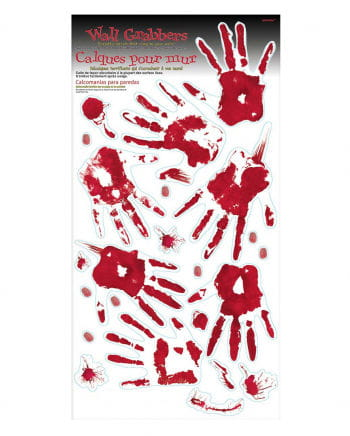 Blutige Handabdrücke & Spuren Wanddeko