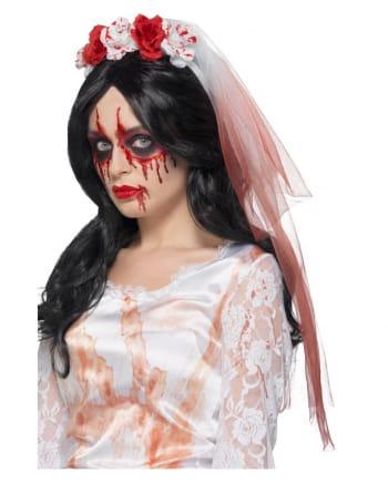 Blutiger Rosen Brautschleier