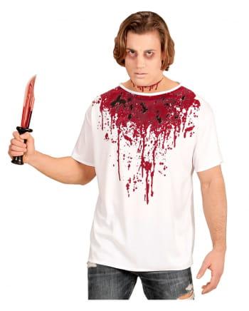 Blutverschmiertes T-Shirt